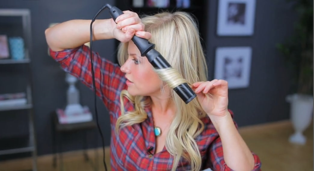 Shop this look: Get soft wavy hair with a curling rod