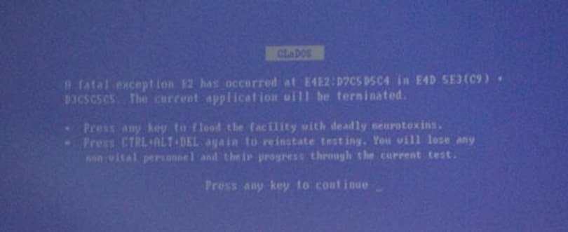 Valve's viral plot thickens with Portal blue screen of death