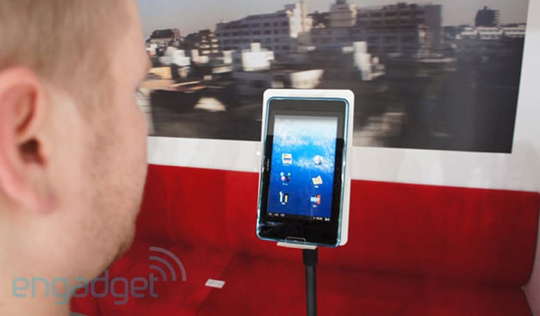 NTT DoCoMo's i beam tablet prototype is driven by your eyes (video)