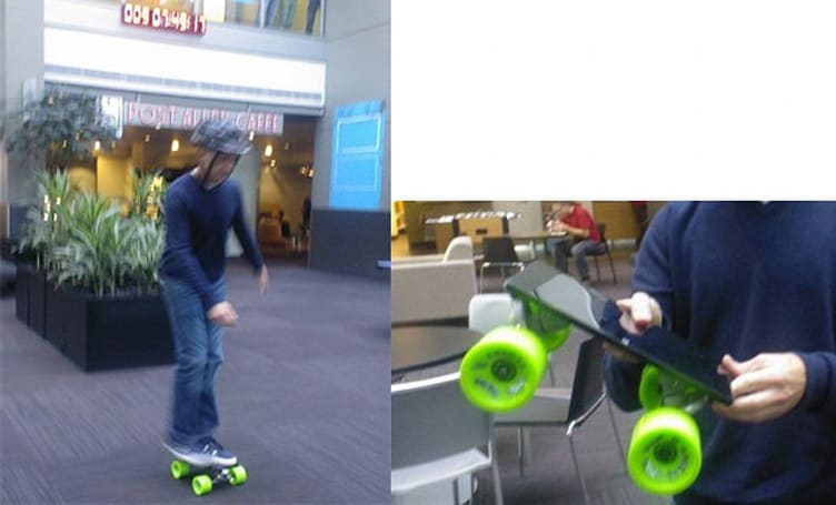 Microsoft turns Surface tablet into a skateboard, Windows chief Steven Sinofsky takes it for a spin