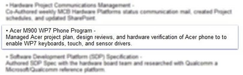 Microsoft employee profile hints at possible Acer Windows Phone 7 device
