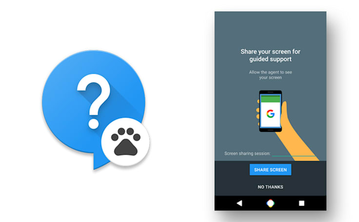 Google live support app would share your Nexus phone's screen