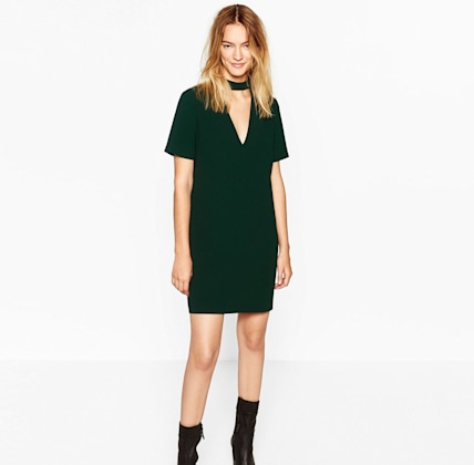 Zara Mini Dress with Collar Detail