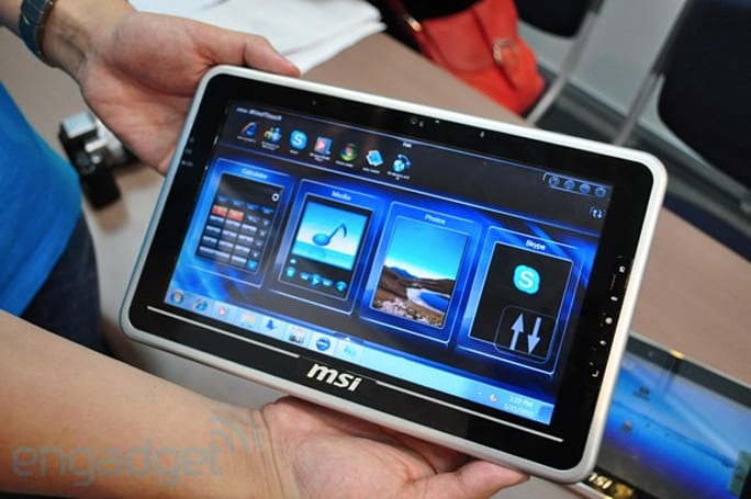 MSI WindPad 100 is a 10-inch, Intel Atom-powered Windows 7 tablet