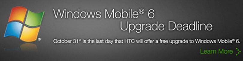 HTC sets Window Mobile 6 upgrade deadline for October 31st