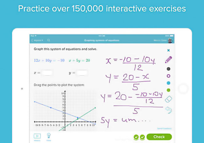 You can now take every Khan Academy course via the iPad