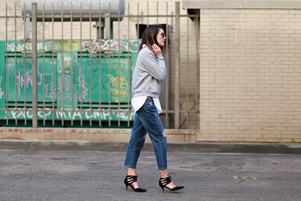 Sweatshirt and heels: How to actually wear this trend