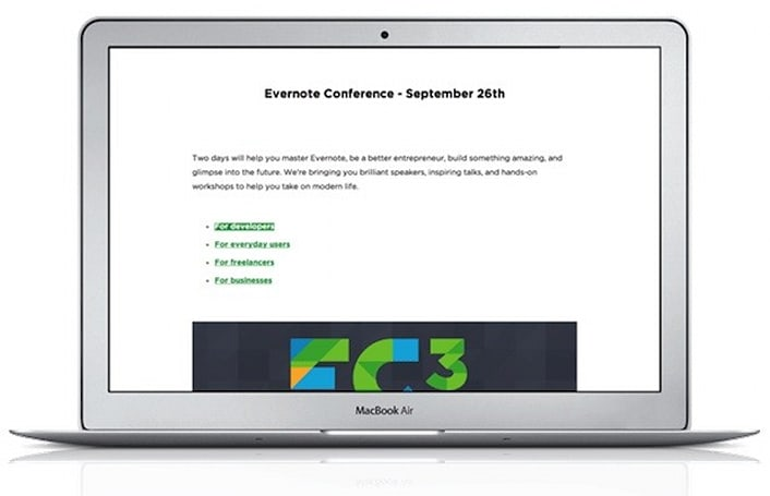 Evernote for Mac now offers a Presentation Mode as a premium feature