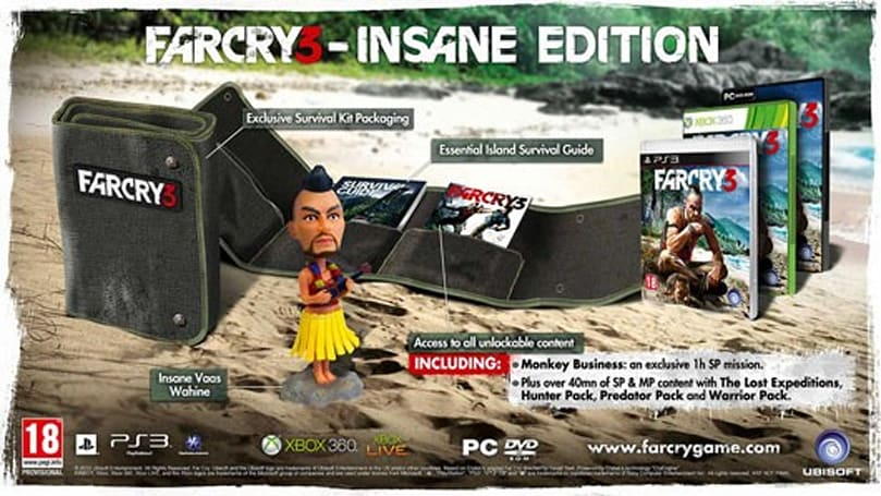 Far Cry 3's 'Insane Edition' contains the best bobblehead, exclusive to Europe