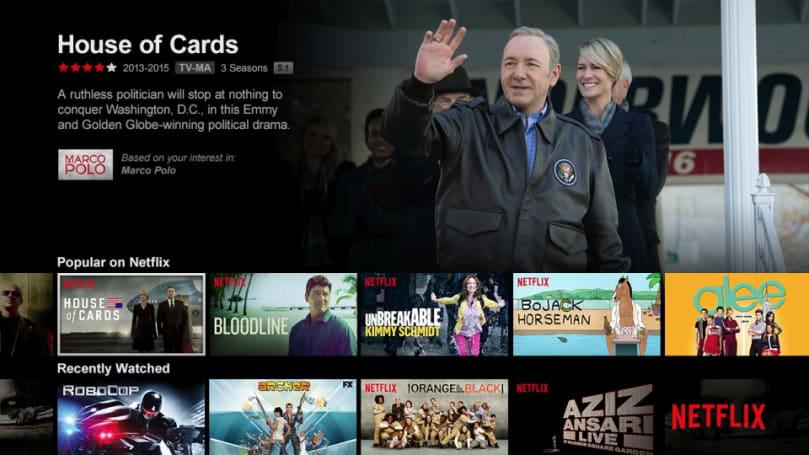 Netflix's TV apps get their first major update since 2013