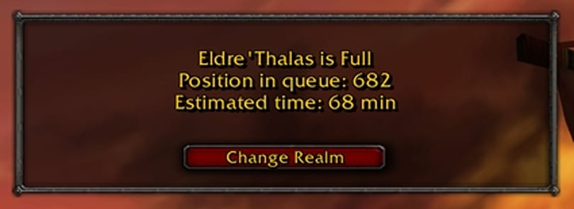 The World (of Warcraft) is full, please come back later