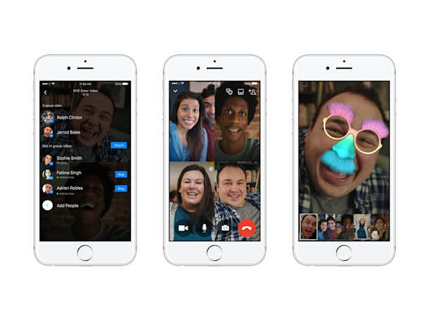 Facebook Messenger adds group video chatting on iOS and Android