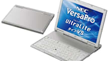 NEC's VersaPro UltraLite Type VS is thicker but lighter than Air