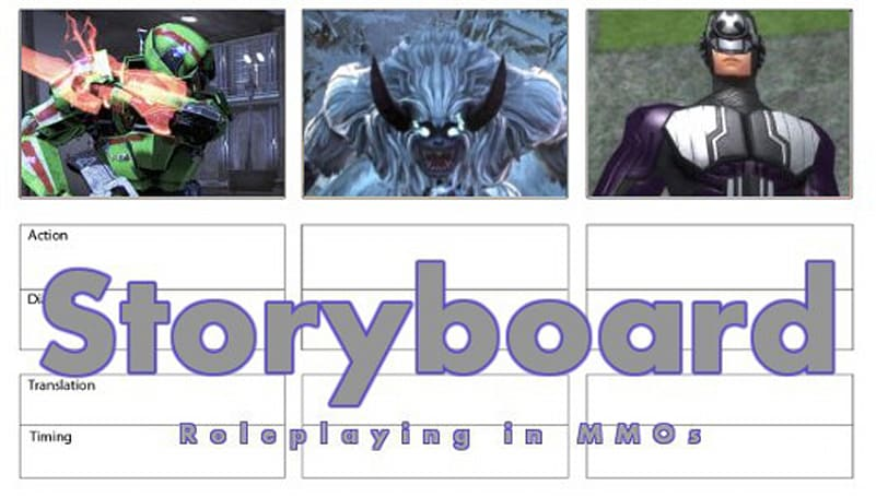 Storyboard: Playing the role and playing the game
