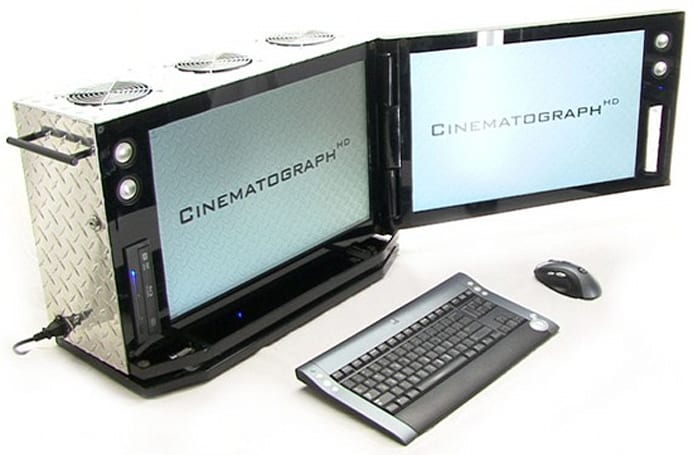 CinematographHD case mod conceals monster video editing rig