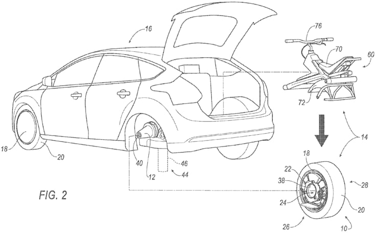 Ford concept turns your car wheel into an electric unicycle