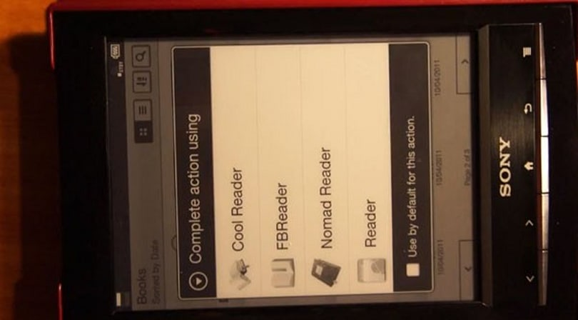 Sony Reader PRS-T1 hacked to expose Android, run other e-reader apps (video)