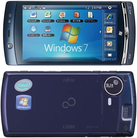 NTT DoCoMo's Fujitsu LOOX F-07C goes official, dual-boots to Windows 7 and Symbian (updated)
