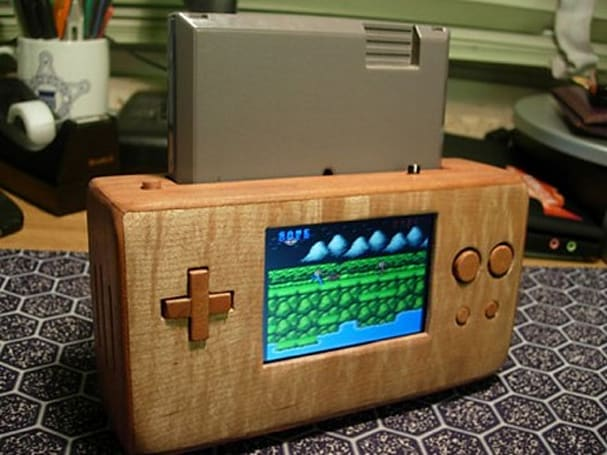 Wooden portable NES lets you game in style