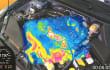 Warmlaufender Motor mit Wärmebildkamera gefilmt