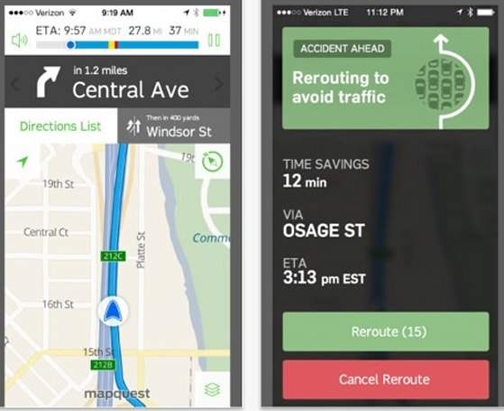 MapQuest gets new look, features for iOS 7 users