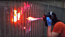 Shoot actual fire from your eyes with this 'Cyclops' helmet