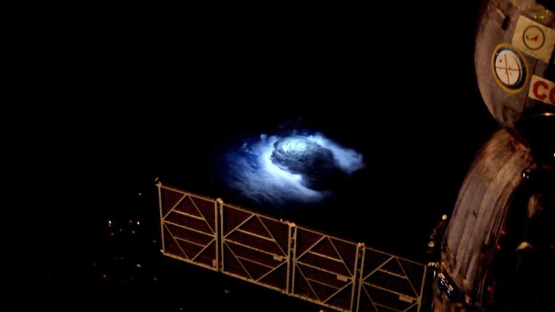 Astronaut filmed elusive blue lightning aboard the ISS