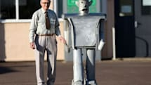 60 year-old remote-controlled robot made from scrap parts makes a dramatic, beautiful comeback