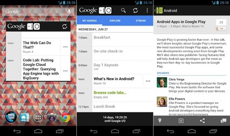 Google I/O 2012 app unveiled for Android, keeps attendees and outsiders looped in