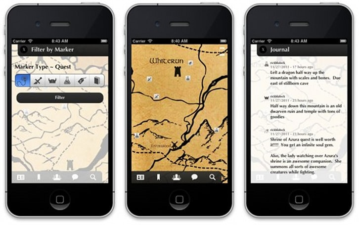 Dragon Shout app brings interactive Skyrim map to iOS soon, for free