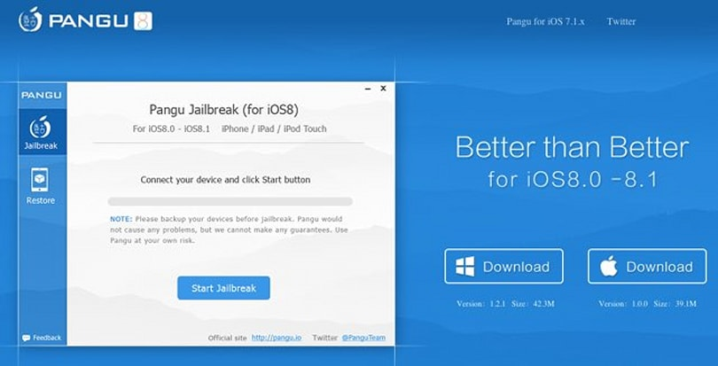 Pangu releases 8.0-8.1 jailbreak tool for OS X