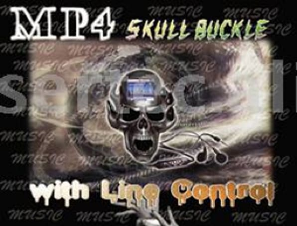 The MP4 playing Skull Buckle