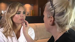 """Kate Upton Gets Prepped for ' """"Sports Illustrated' Launch Party"""