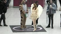 Lynx augmented reality stunt drops scantly clad angels on terrestrial travelers (video)