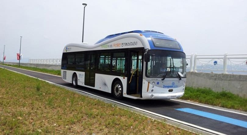 Wirelessly-charged electric buses start public route in South Korea