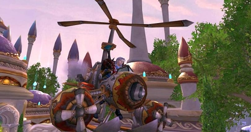 Chinese World of Warcraft fan has created a flying machine