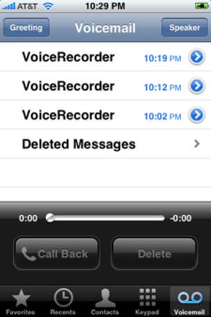 Trick your iPhone voicemail into using voice recording data
