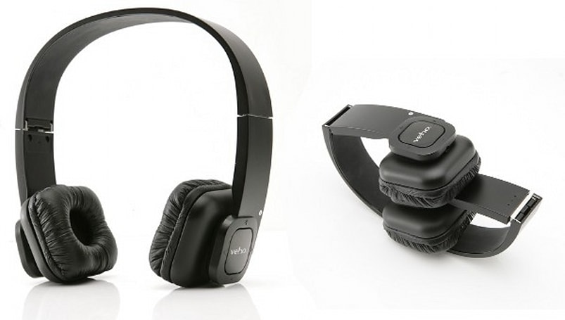 Veho's Bluetooth headphones fold up, kickout the wireless jams