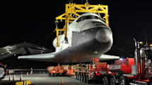 Visualized: Space Shuttle Enterprise disembarks the 747 en-route to its watery retirement home