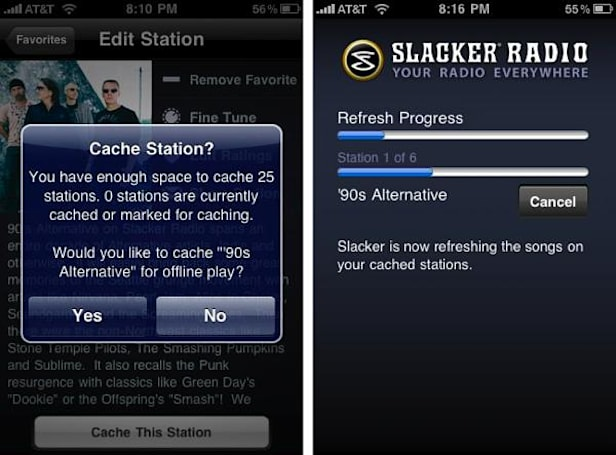 Slacker Radio 2.0 for iPhone to feature station caching, out 'soonish'