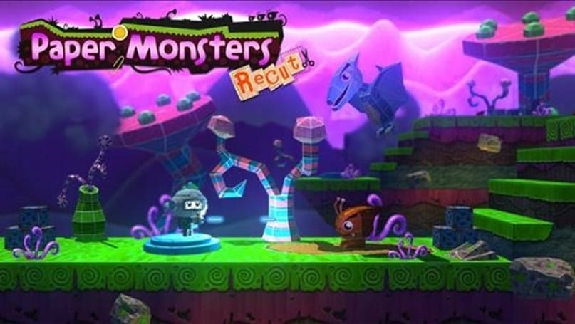 Arts and crafts time invaded by monsters in Paper Monsters Recut