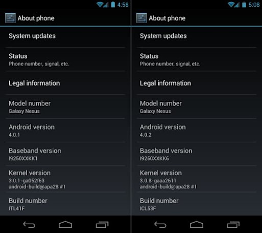 GSM Galaxy Nexus 4.0.2 update rolls out, matches its cousin on Verizon