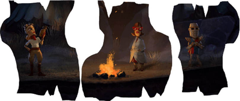 Three more playable characters for new Double Fine game