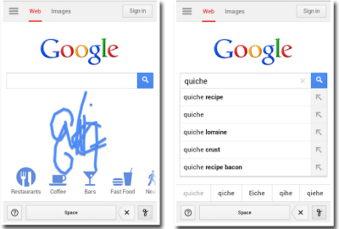 Google Handwrite gets better at interpreting your multi-lingual finger scribbles