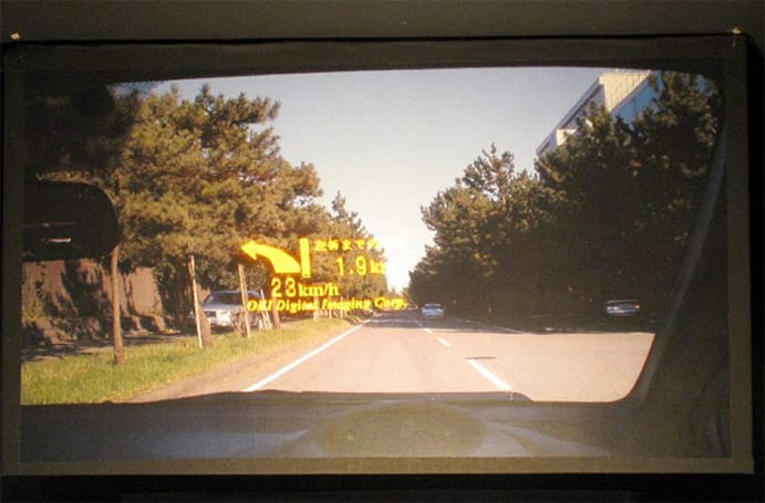 Oki shows off prototype LED-based HUD, coming soon to a jalopy near you