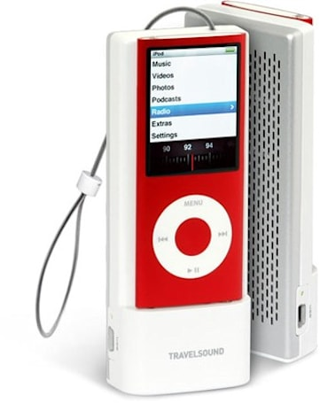Creative TravelSound i85 adds external speaker, FM tuner to iPod nano