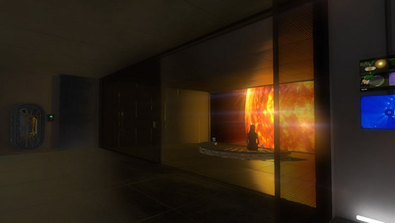 Look directly at the 'Sunshine' with Oculus VR