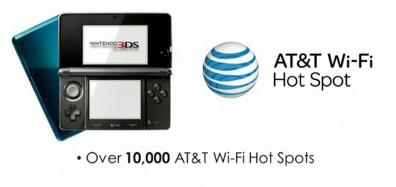 3DS to have access to over 10,000 AT&T Wi-Fi hotspots by late May