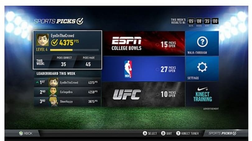 NBA Game Time, ESPN apps team up with Xbox SmartGlass