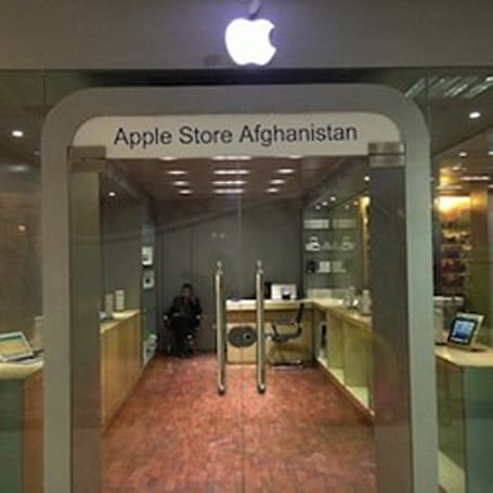 Inside Afghanistan's unofficial Apple Store